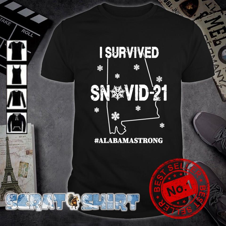 Alabama strong I survived Snovid-21 shirt