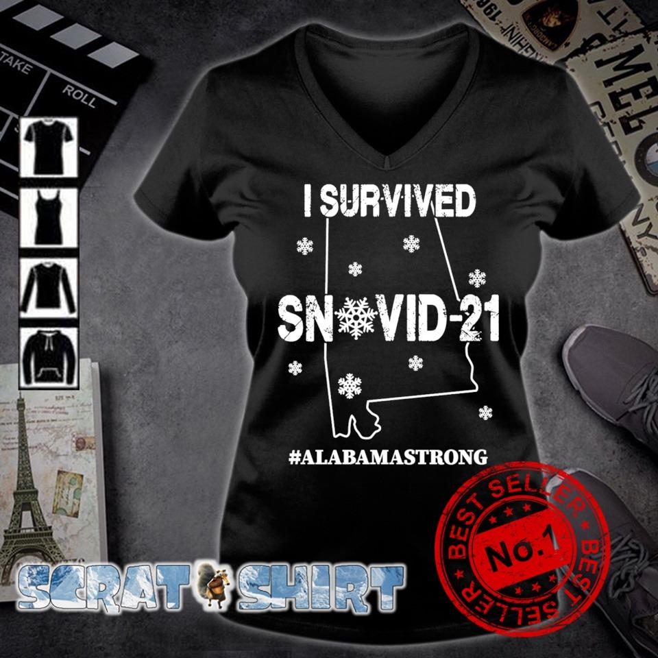 Alabama strong I survived Snovid-21 s v-neck t-shirt