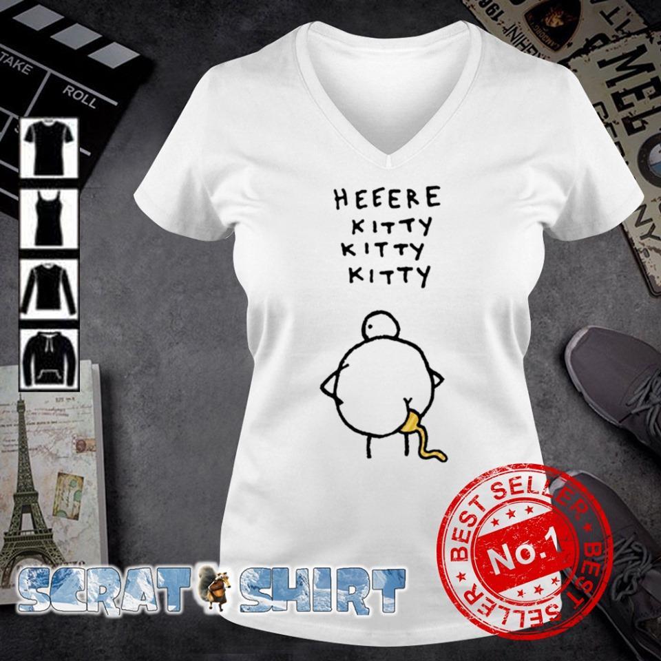 Heeere kitty kitty kitty s v-neck t-shirt