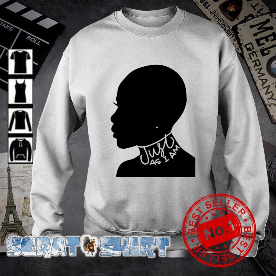 Just as I am black women s sweater