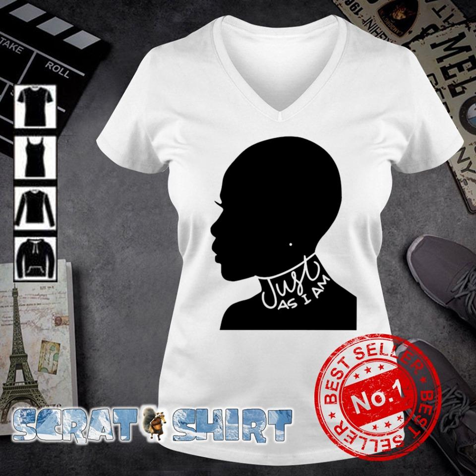 Just as I am black women s v-neck t-shirt