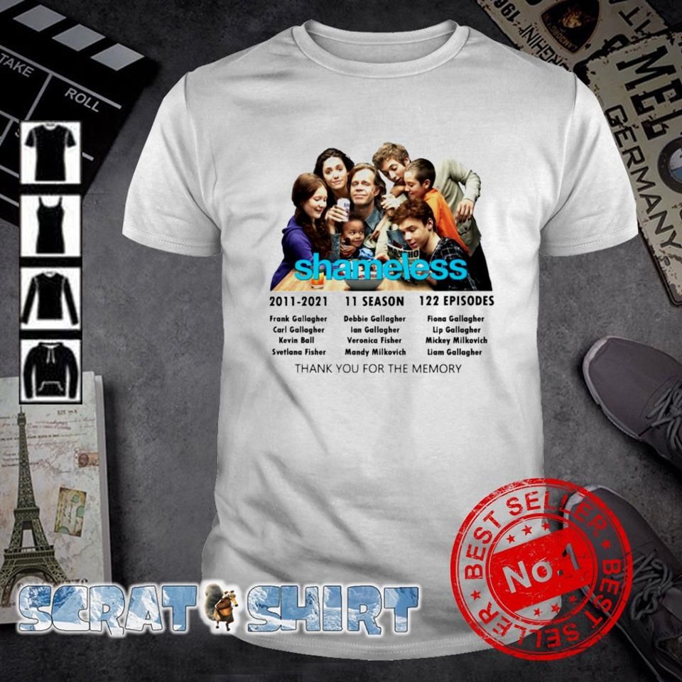 10 years of Shameless 2011 2021 characters signature shirt