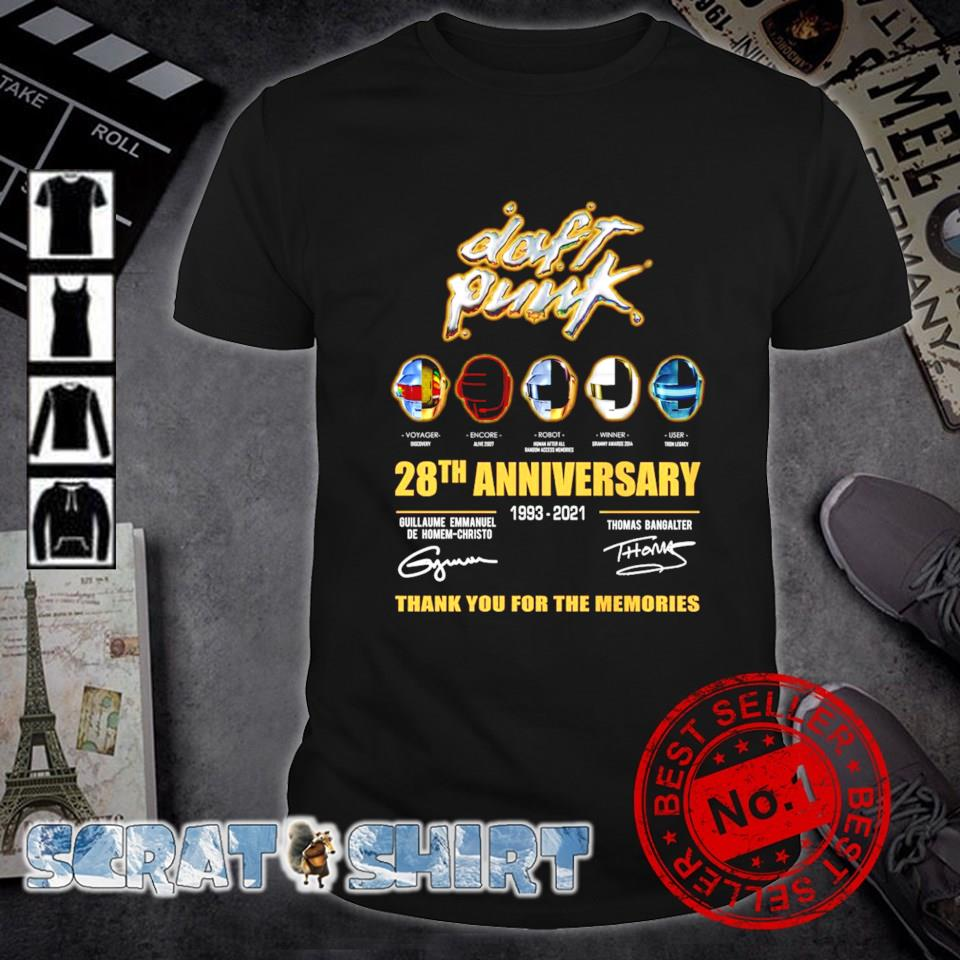 28 years of Daft Punk 1993 2021 thank you for the memories shirt