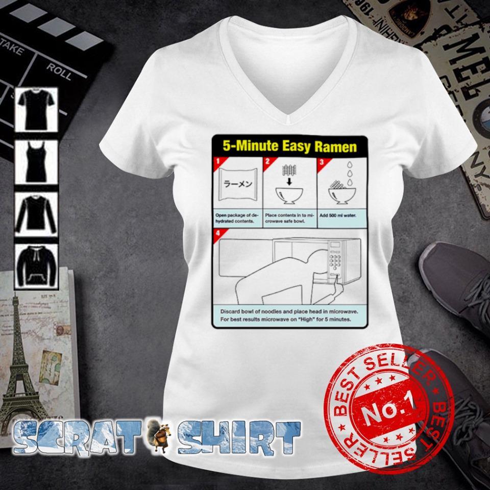 5-minute easy ramen s v-neck t-shirt