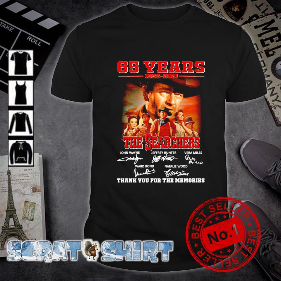 65 years 1956 2021 The Searchers characters signature shirt