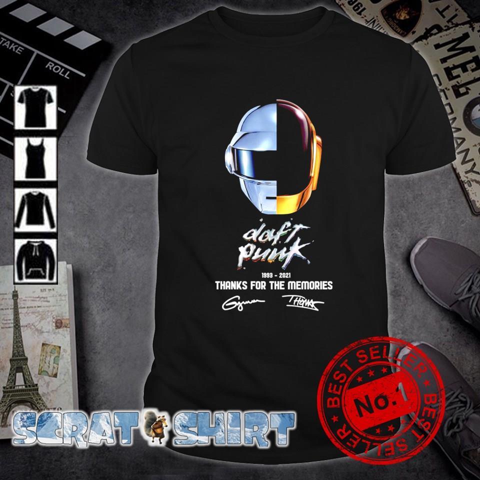 Daft Punk 1993 2021 thanks for the memories signature shirt