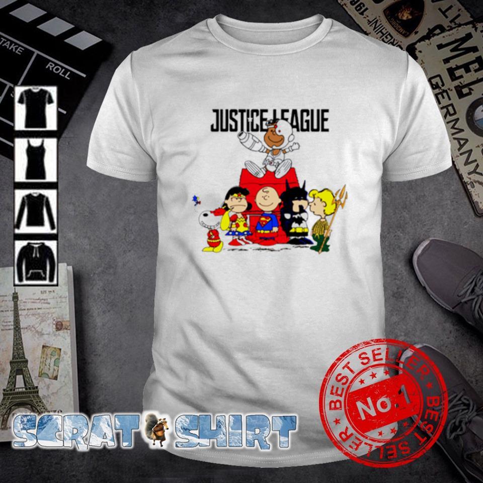 Peanuts characters Superheroes justice league shirt