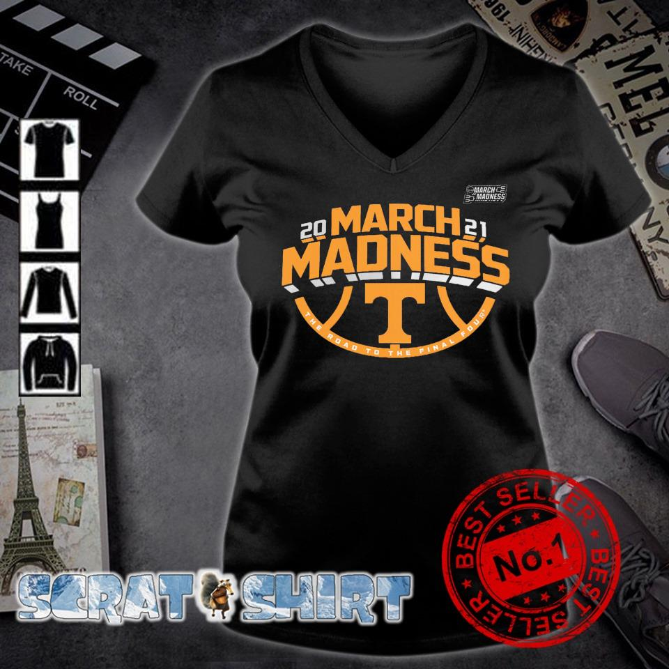 Tennessee Volunteers 2021 March madness the road to the final four s v-neck t-shirt