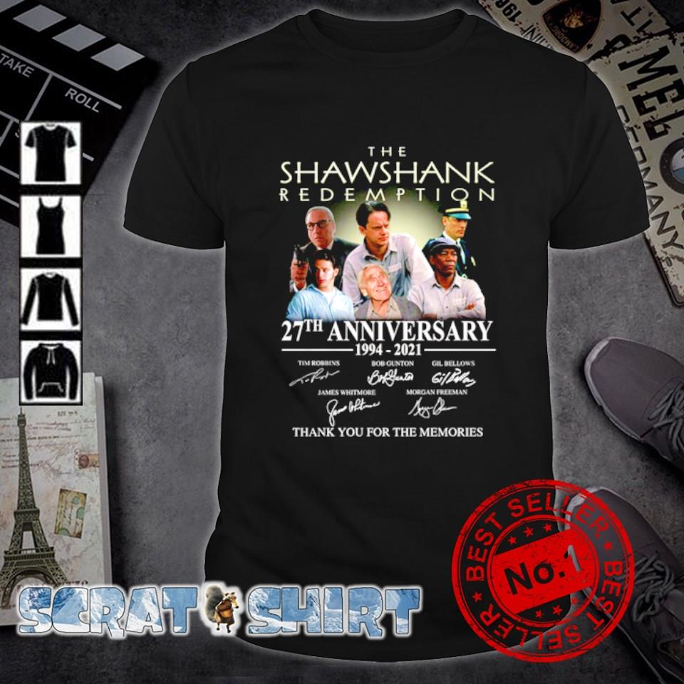 The Shawshank Redemption 27th Anniversary 1994 2021 thank you for the memories shirt