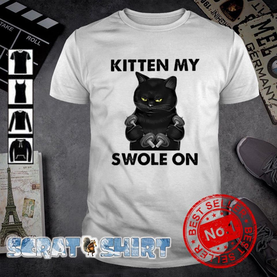 Cat Weightlifting kitten my swole on shirt