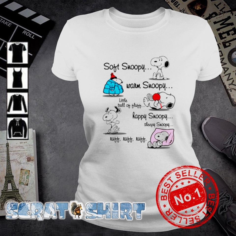 Soft Snoopy warm Snoopy little ball of fluff happy Snoopy s ladies-tee