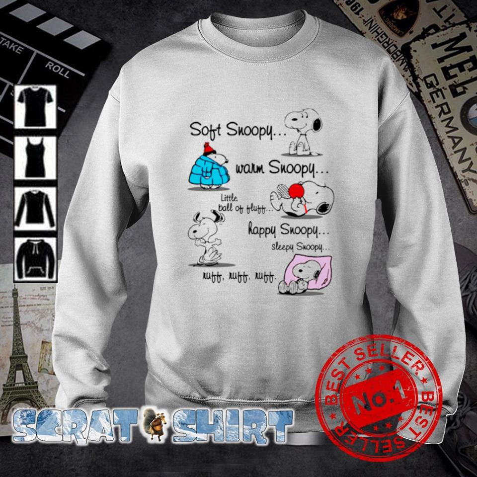 Soft Snoopy warm Snoopy little ball of fluff happy Snoopy s sweater