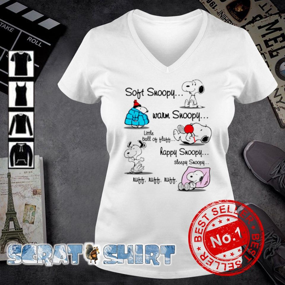 Soft Snoopy warm Snoopy little ball of fluff happy Snoopy s v-neck t-shirt