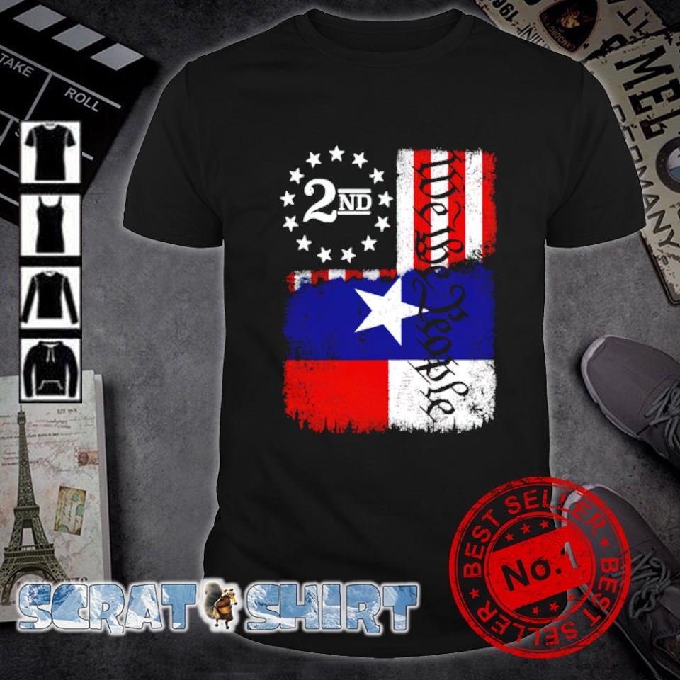 Texas Blended 2A Flag shirt