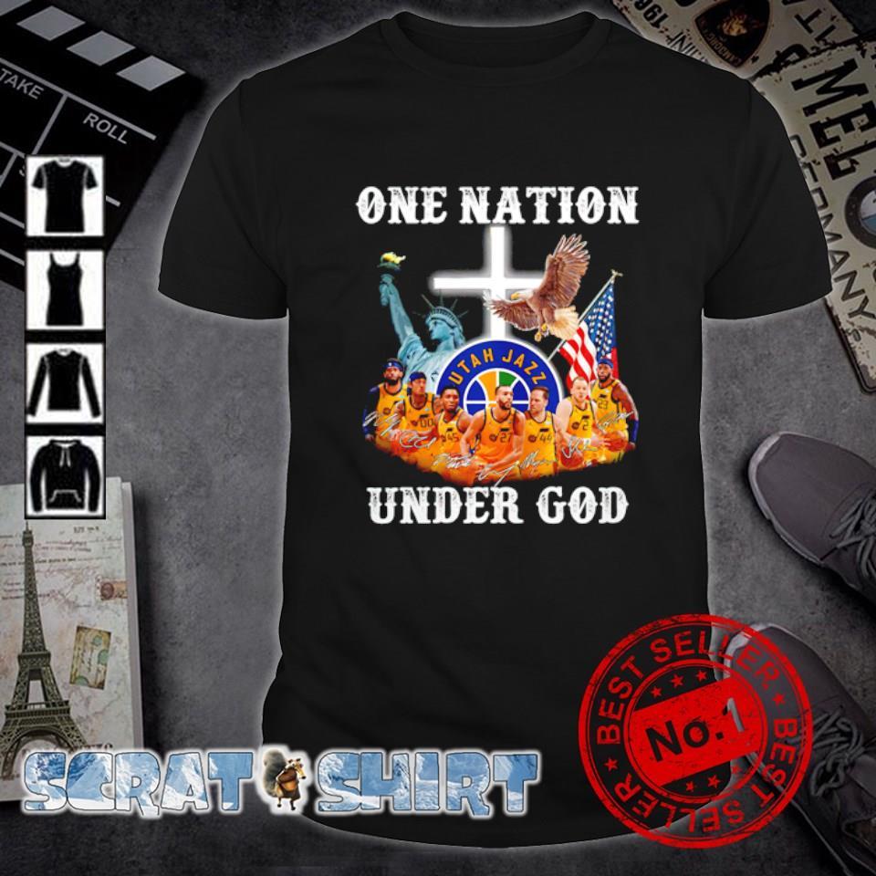 Utah Jazz one nation under God shirt