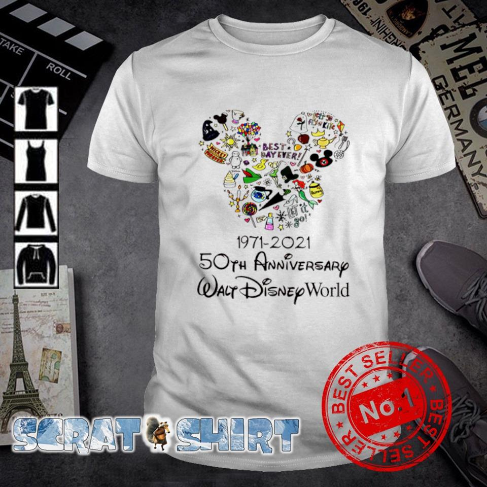 1971 2021 50th Anniversary Walt Disney world shirt