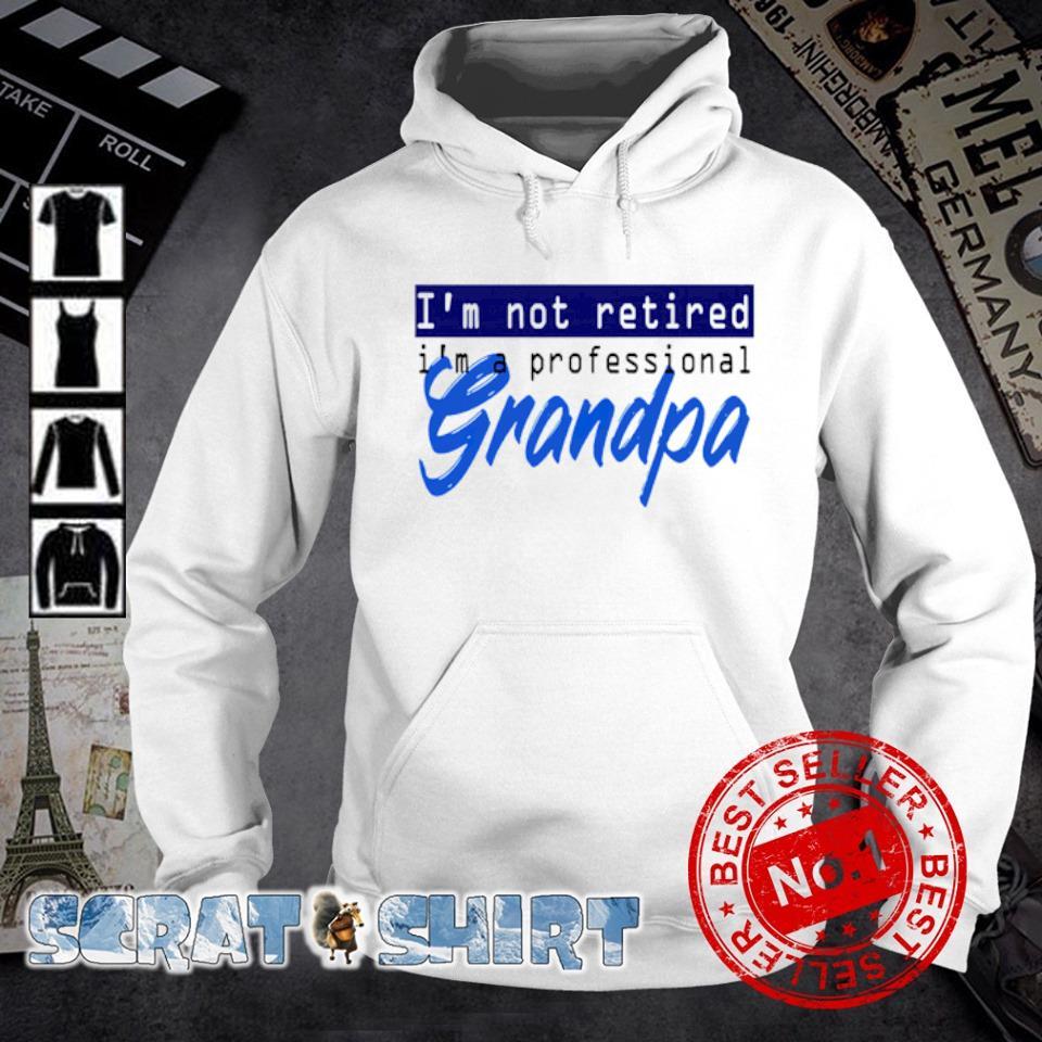 I'm not retired I'm a professional grandpa hoodie