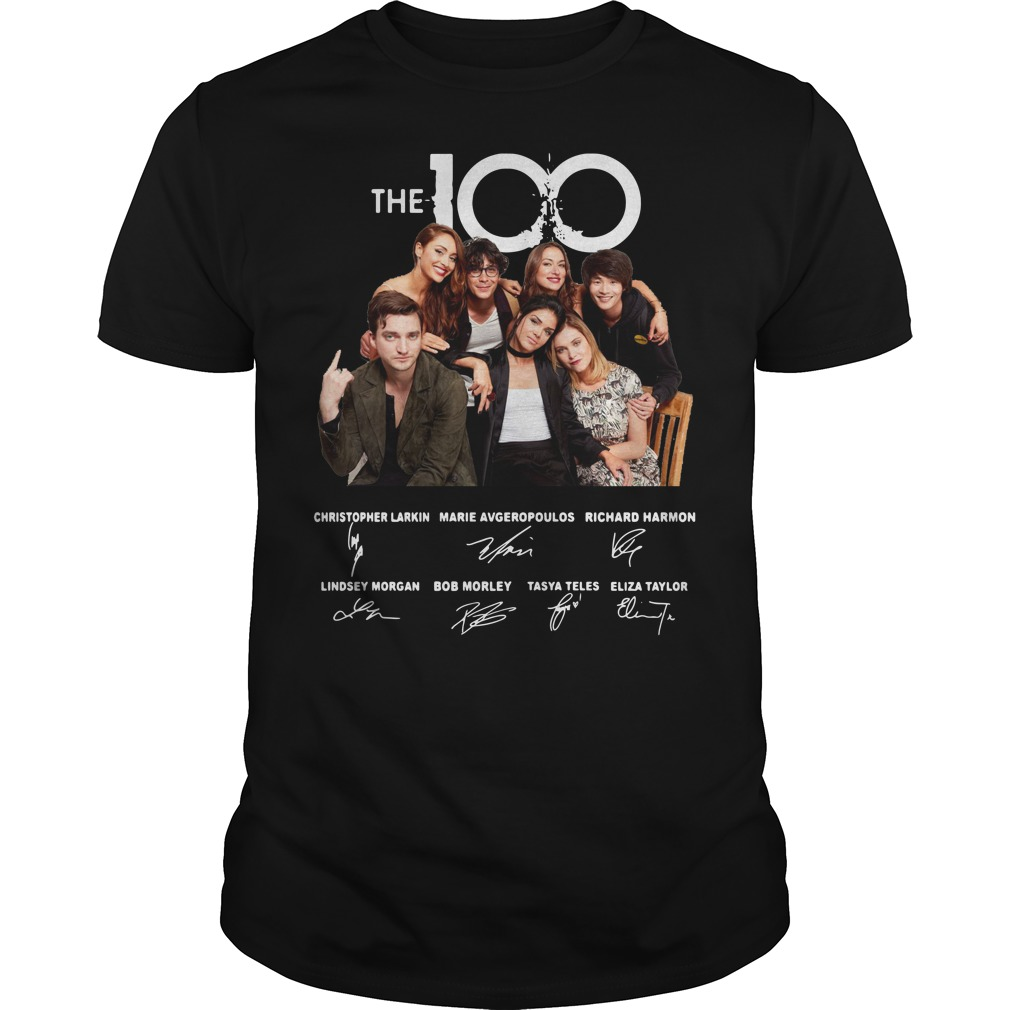 The 100 Christopher Larkin Marie Avgeropoulos Richard Harmon Signature shirt