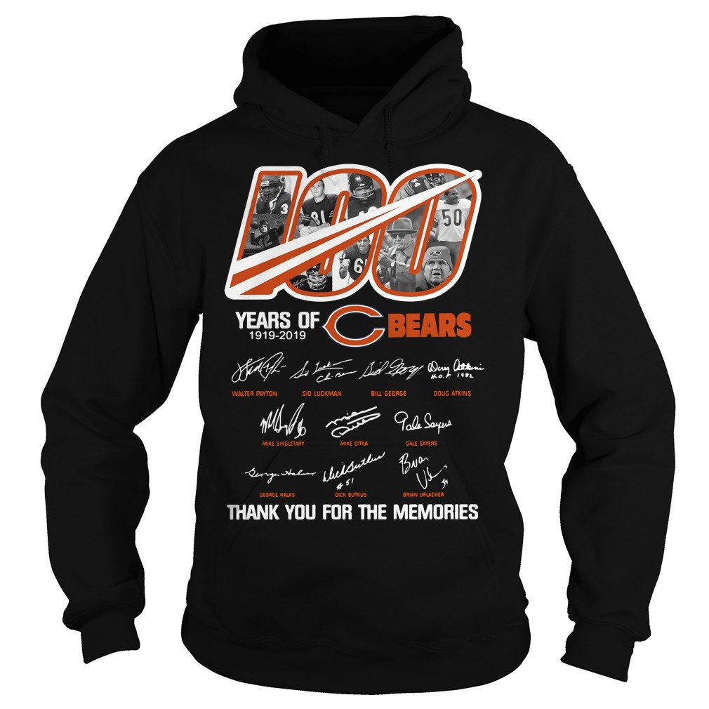 100 years of Chicago Bears thank you for the memories Hoodie