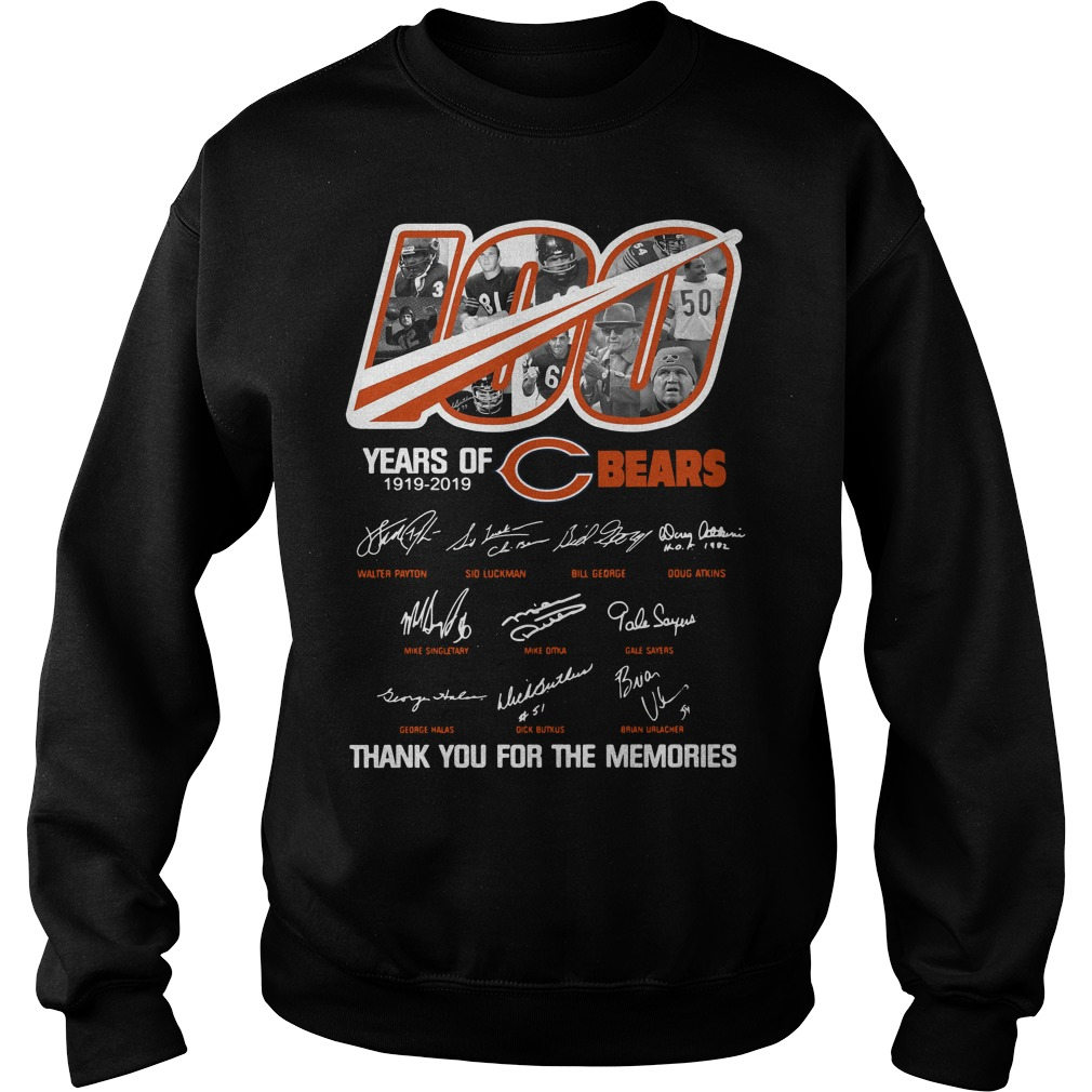 100 years of Chicago Bears thank you for the memories Sweater