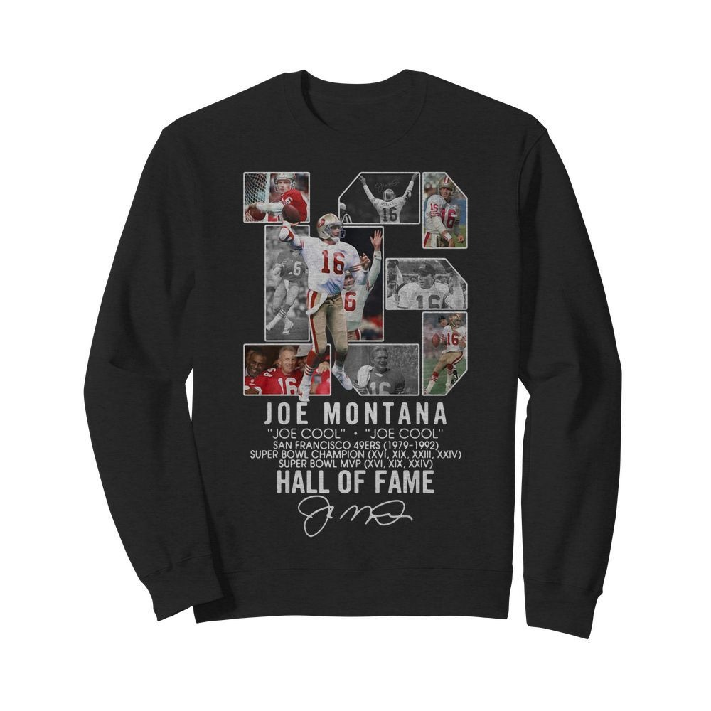 16 Joe Montana joe cool San Francisco 49ers 1979 - 1992 hall of fame Sweater