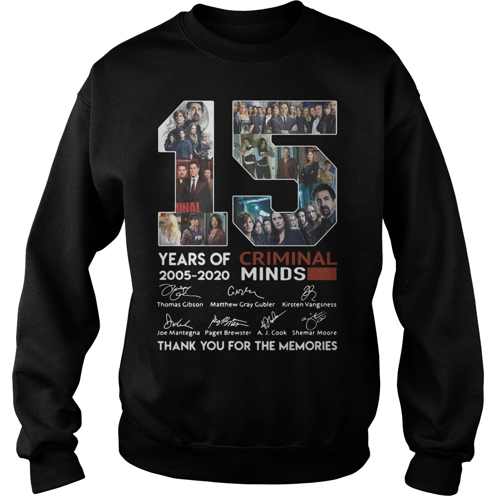 15 years of Criminal Minds 2005 - 2020 thank you for the memories Sweater