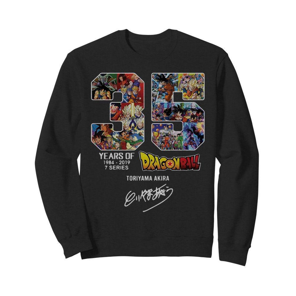 35 years of Dragon Ball 1984 2019 Toriyama Akira signature Sweater