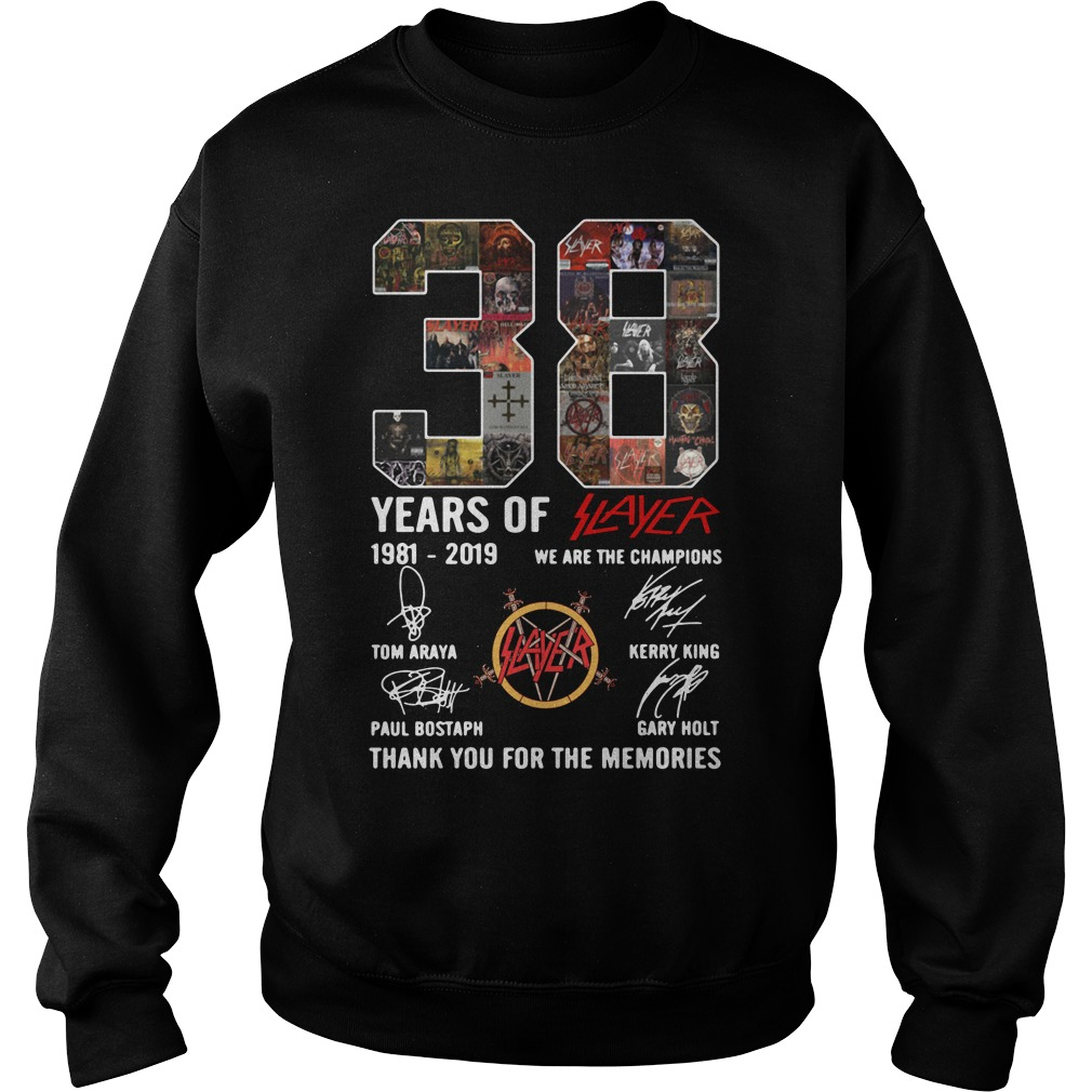 38 years of Slayer we are the champions thank you for the memories Sweater