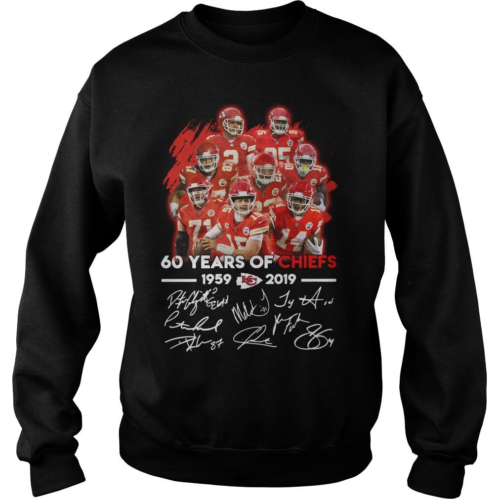 60 years of Kansas City Chiefs 1959 - 2019 signature Sweater