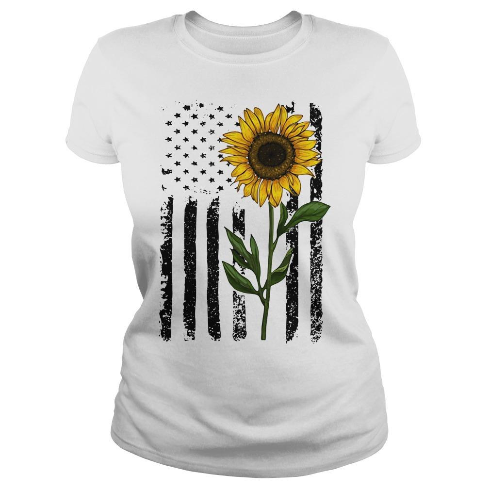 America Flag sunflower hippie vintage shirt