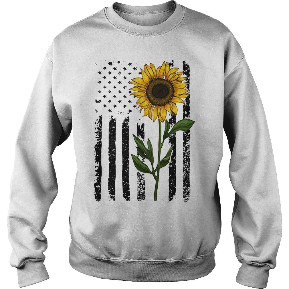 America Flag sunflower hippie vintage Sweater
