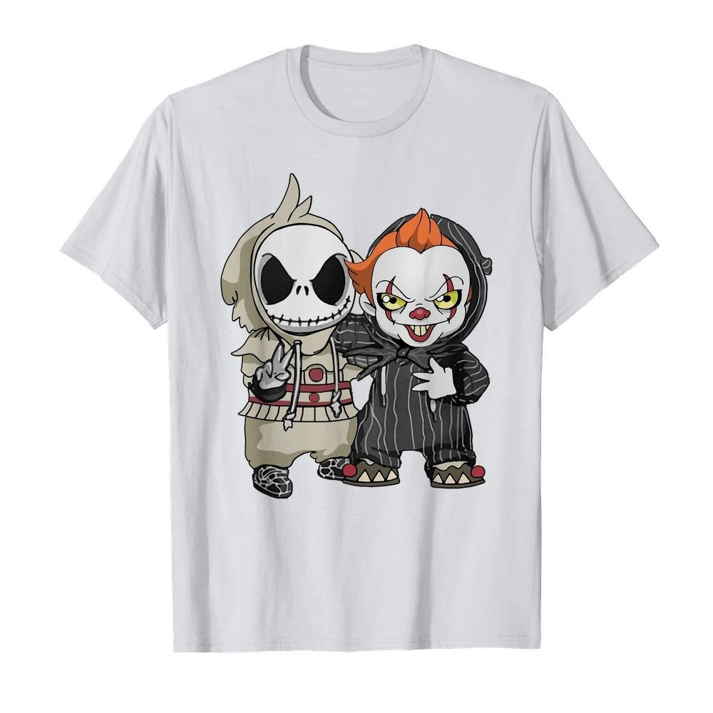 Baby Jack Skellington and Pennywise we are friend shirt