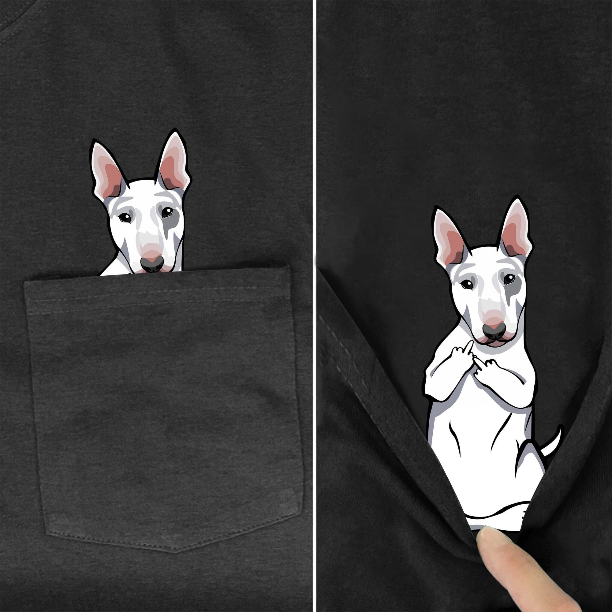 Bull Terrier dog pocket shirt