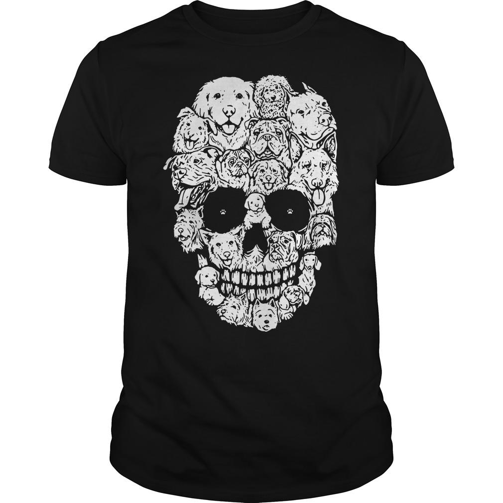 Dog skull Halloween shirt