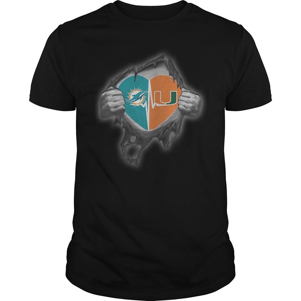 Dolphins Hurricanes It's in my heart inside me shirt