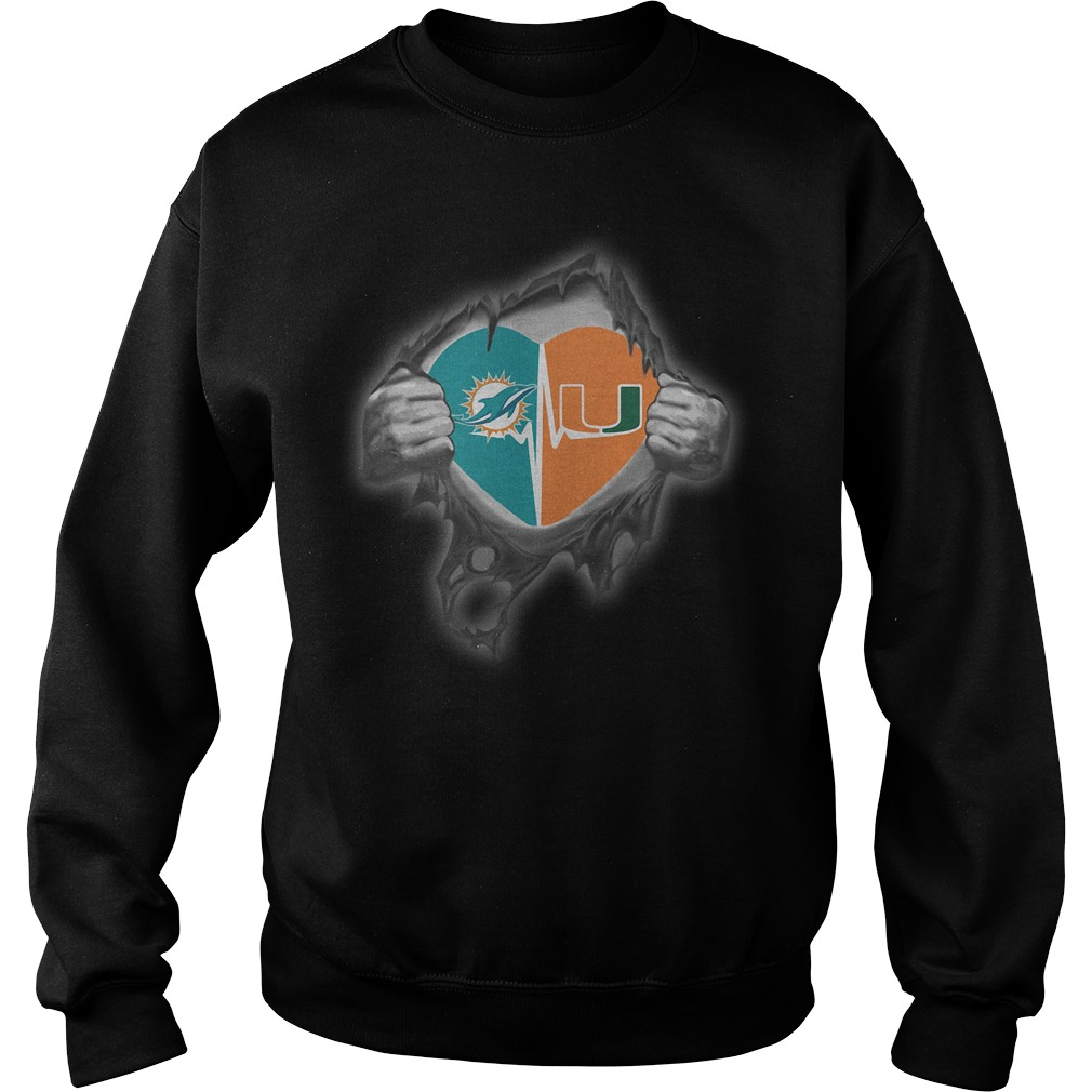 Dolphins Hurricanes It's in my heart inside me Sweater