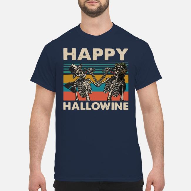Jack Skellington Happy Hallowine vintage shirt