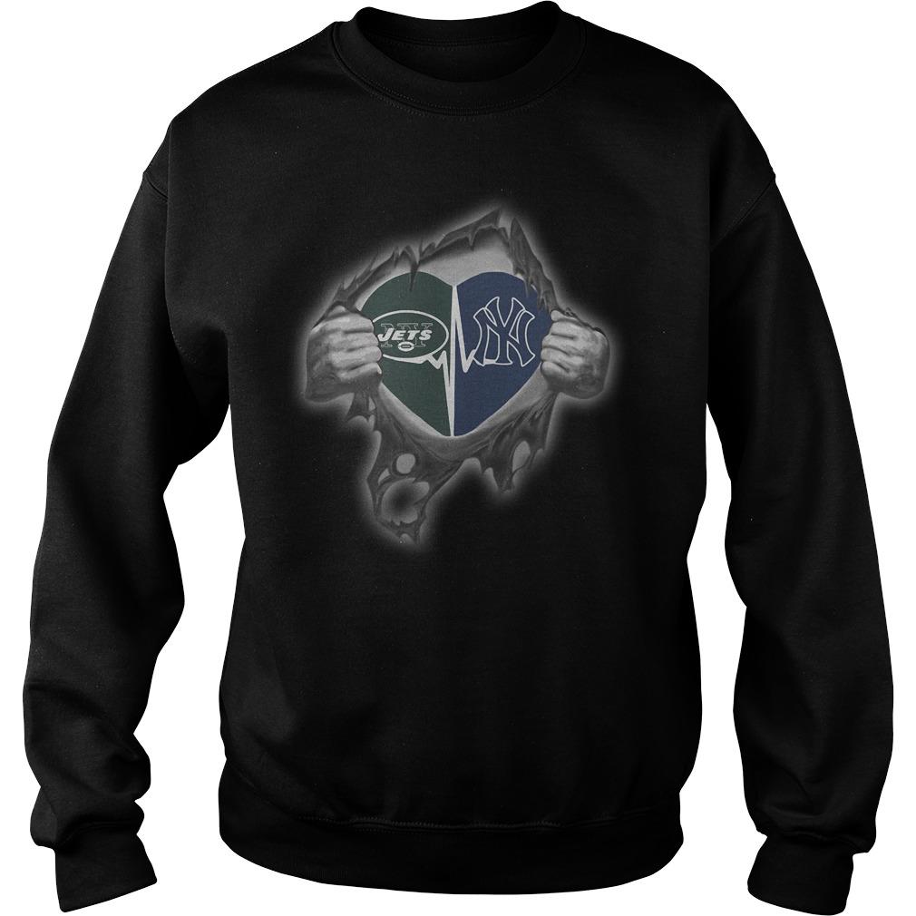 Jets Yankees It's in my heart inside me Sweater