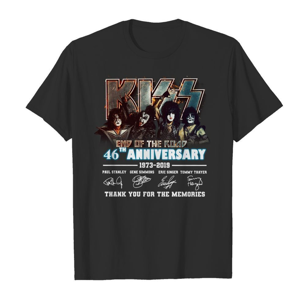 Kiss End of the Road 46th Anniversary 1973 2019 thank you for the shirt