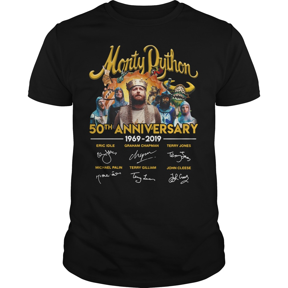 Monty Python 50th anniversary 1969 - 2019 signatures shirt