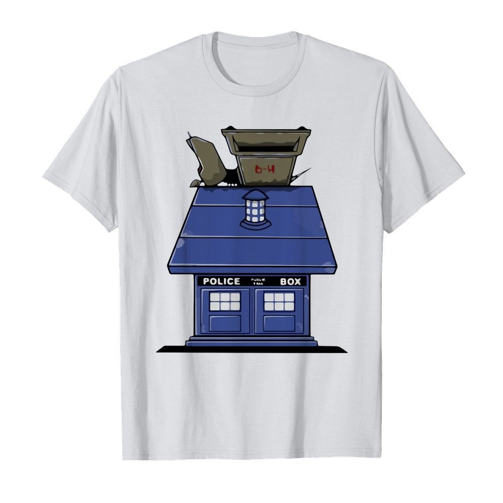 Police Box doctor who Snoopy dog house shirt
