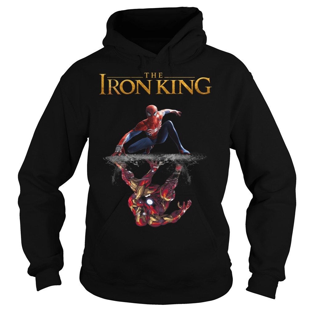 Reflection Iron Man The Iron King Spider Man Hoodie