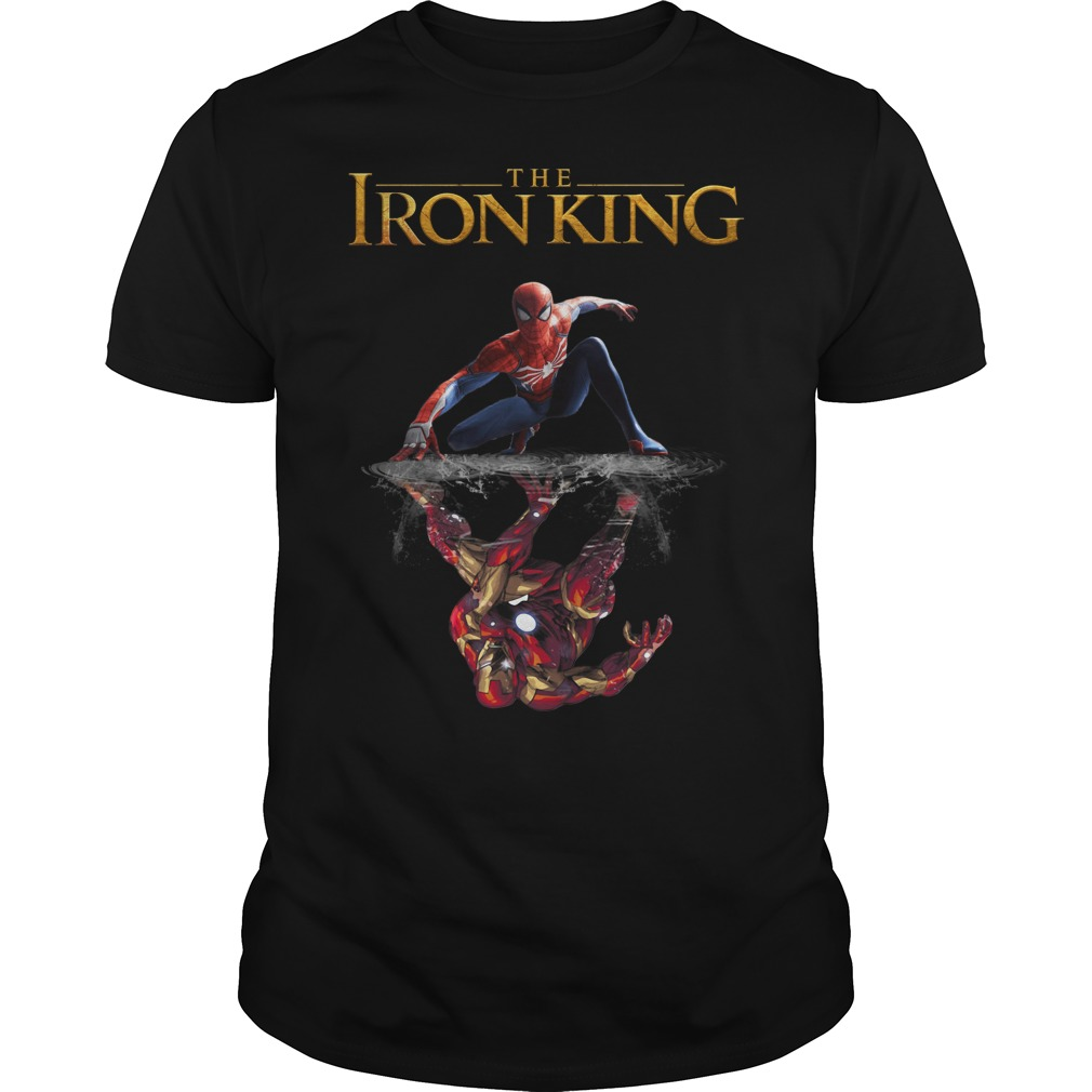 Reflection Iron Man The Iron King Spider Man shirt