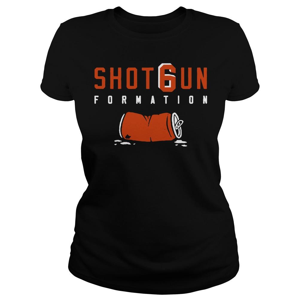 Shotgun Formation Cleveland Browns Ladies Tee