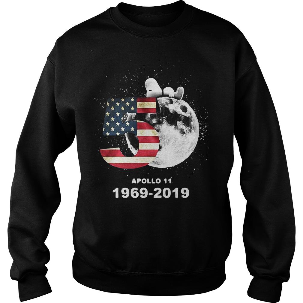 Snoopy 50th Anniversary Apollo 11 1969-2019 America flag Sweater