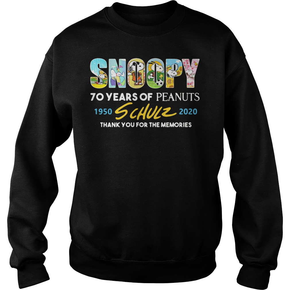 Snoopy 70 years of peanuts 1950-2020 schulz thanks you for the Sweater