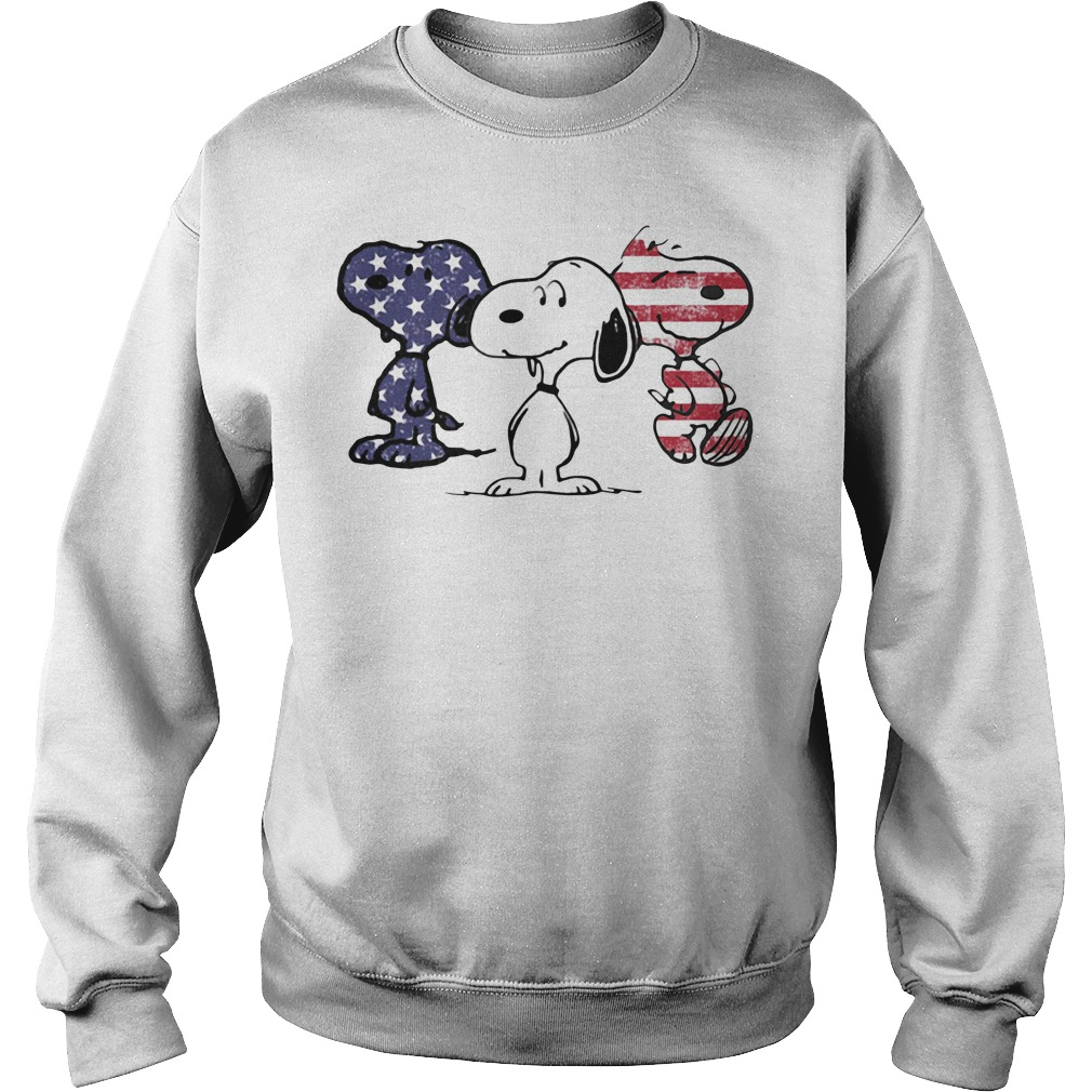 Snoopy America Flag Sweater