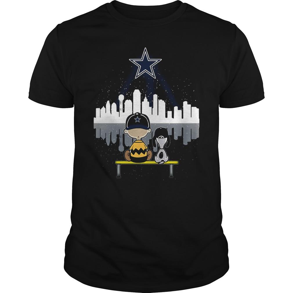 Snoopy and Charlie Brown Dallas Cowboys shirt