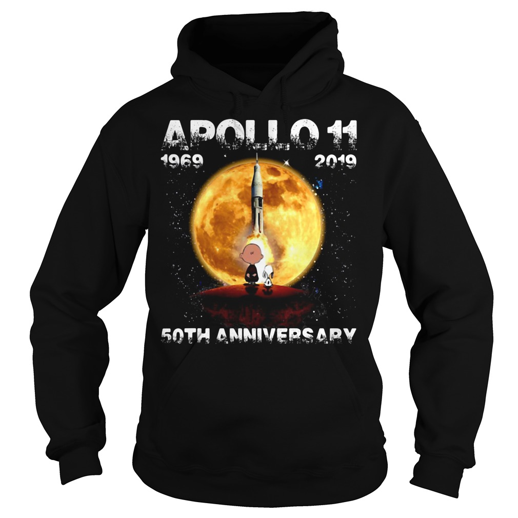 Snoopy and Charlie Brown apollo 11 1969 - 2019 50th anniversary Hoodie
