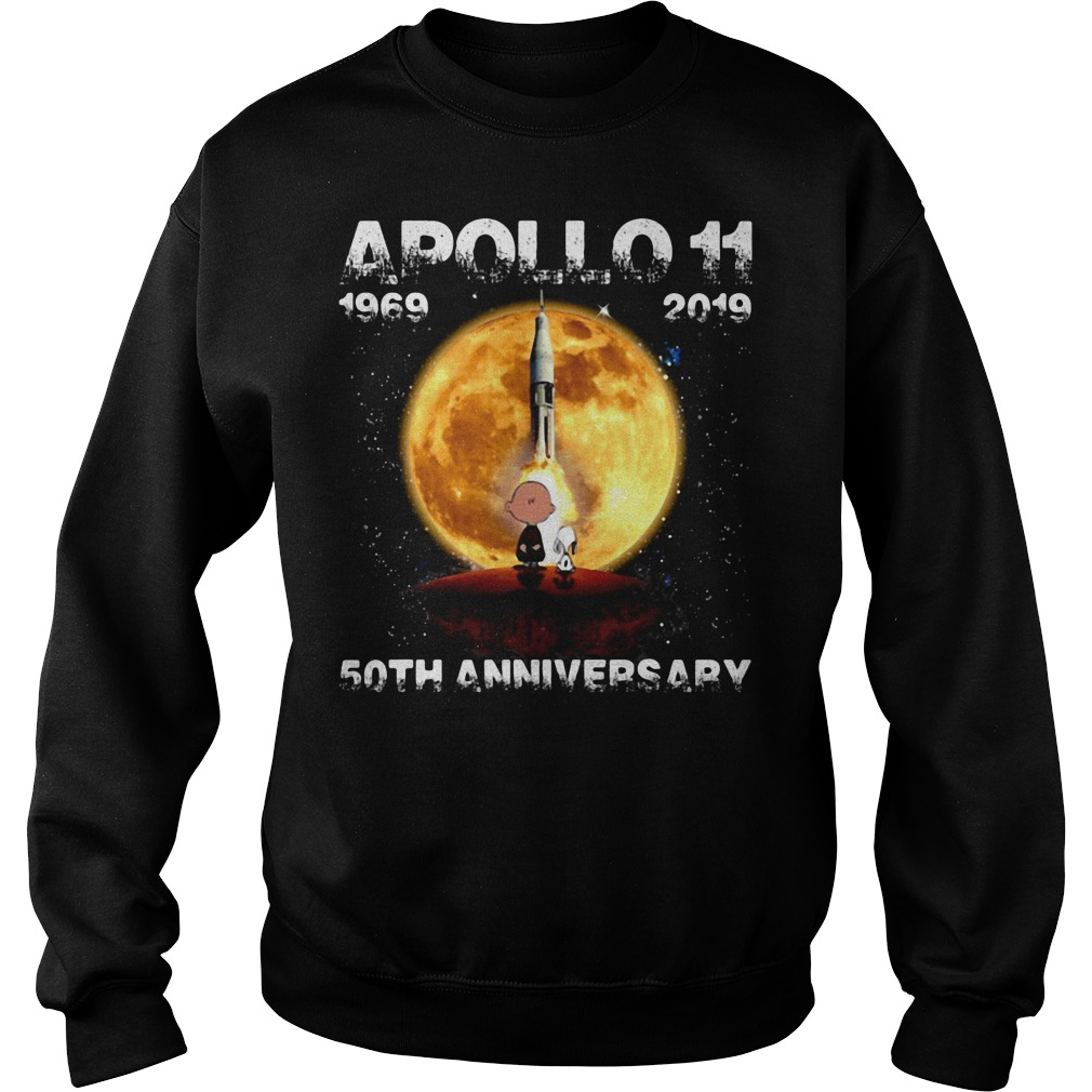 Snoopy and Charlie Brown apollo 11 1969 - 2019 50th anniversary Sweater
